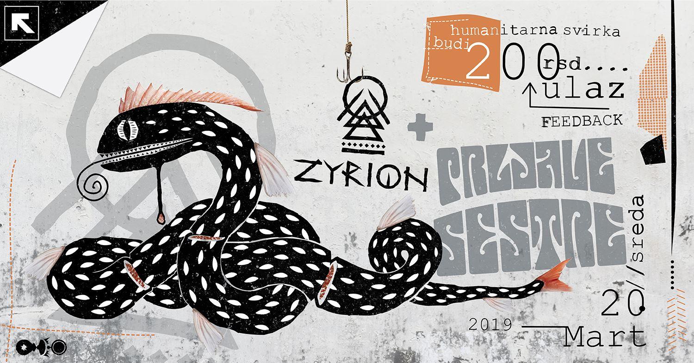 Muzikom Viktoru u pomoć - Zyrion+Prljave Sestre - 20. Mart - 21h